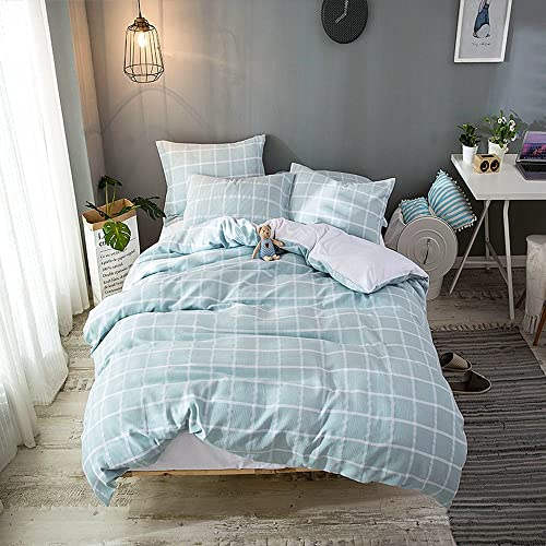 7b31a851a2c0 Merryfeel Cotton Duvet Cover Set,100% Cotton Yarn Dyed Waffle Weaven Check  Duvet Cover