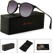 71e5e91db8d SUNGAIT Vintage Round Sunglasses for Women Classic Retro Designer Style